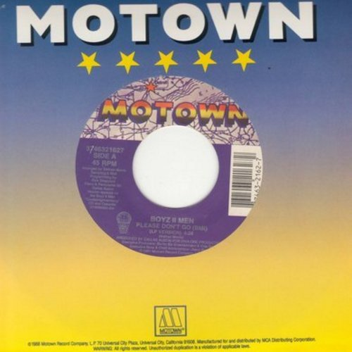 Boyz II Men - Please Don't Go/Uhh Ahh (with Motown company sleeve) - NM9/ - 45 rpm Records