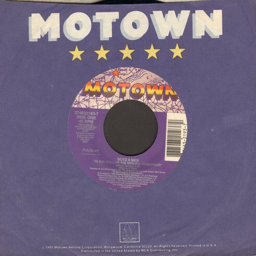 Boyz II Men - In The Still Of The Night (I'll Remember)/Who's Lovin' You (by The Jackson 5 on flip side) (with Motown company sleeve) - NM9/ - 45 rpm Records