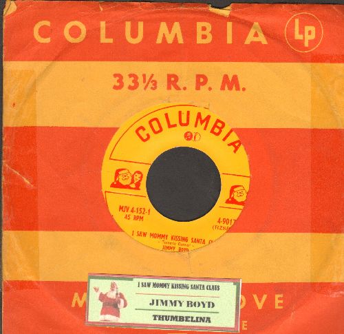 Boyd, Jimmy - I Saw Mommy Do The Mambo (With You Know Who)/Santa Claus Blues (with juke box label and vintage Columbia company sleeve) - NM9/ - 45 rpm Records