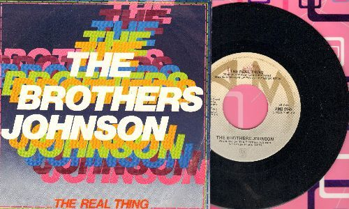 Brothers Johnson - The Real Thing/I Want You (Italian Pressing with picture sleeve) - NM9/NM9 - 45 rpm Records