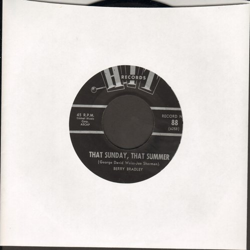 Bradley, Berry - That Sunday, That Summer/Don't Think Twice, It's All Right (by Jimmy Wayne on flip-side) (contemporary cover versions of hits) (sol) - NM9/ - 45 rpm Records