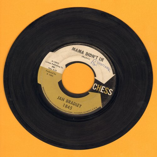 Bradley, Jan - Mama Didn't Lie/Lovers Like Me (gold/black/white label) - VG7/ - 45 rpm Records