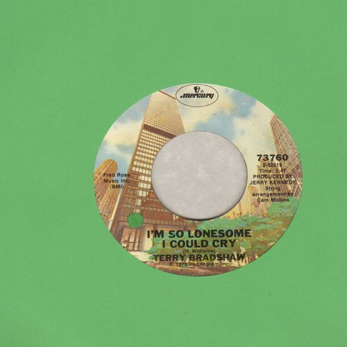 Bradshaw, Terry - I'm So Lonesome I Could Cry/Making Plans - EX8/ - 45 rpm Records