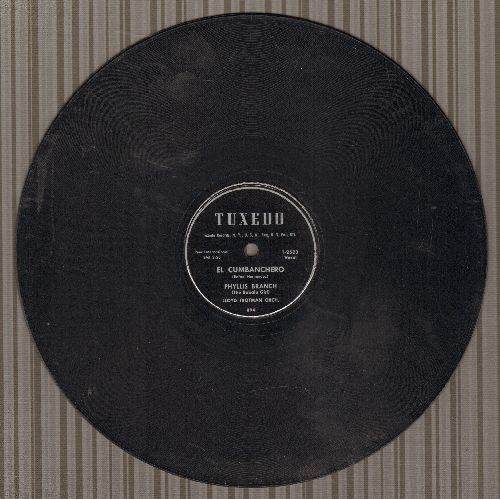 Branch, Phyllis (The Babalu Girl) - El Cumbanchero/From Now On (10 inch 78 rpm record) - EX8/ - 78 rpm Record