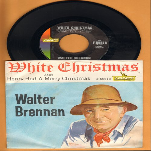 Brennan, Walter - White Christmas/Henry Had A Merry Christmas (with picture sleeve) - NM9/VG7 - 45 rpm Records