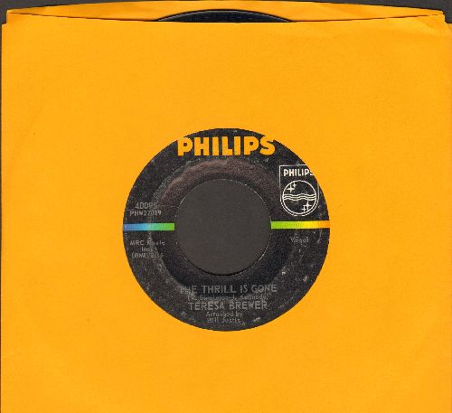 Brewer, Teresa - The Thrill Is Gone/She'll Never Never Love You  - VG7/ - 45 rpm Records