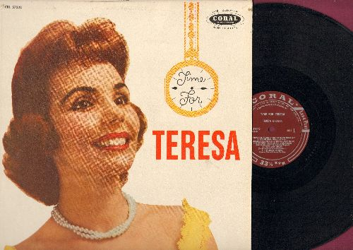 Brewer, Teresa - Teresa: A Tear Fell, Bo Weevil, Ricochet, A Sweet Old Fashioned Girl, Bell Bottom Blues, Pledging My Love (Vinyl MONO LP record, burgundy label first pressing, NICE condition!) - EX8/EX8 - LP Records