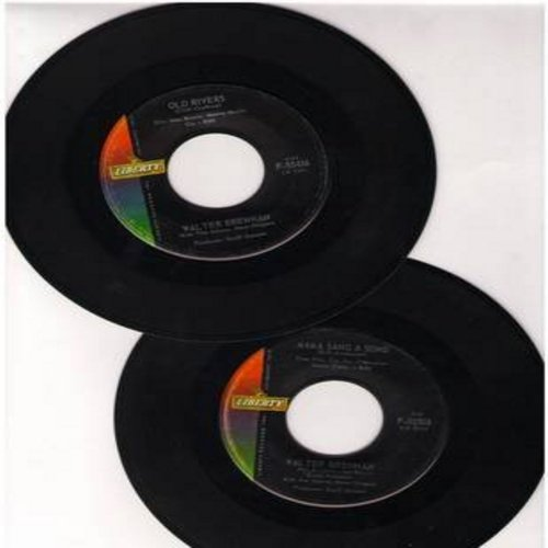 Brennan, Walter - 2 for 1 Special: Old Rivers/Mama Sang A Song (2 original first issue 45rpm records for the price of 1!) - VG7/ - 45 rpm Records