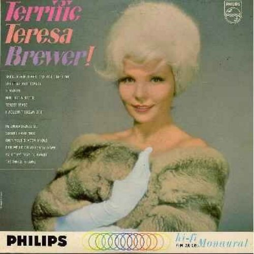 Brewer, Teresa - Terrific Teresa Brewer!: Second Hand Rose, The Thrill Is Gone, Am I That Easy To Forget, She'll Never Never Love You (Like I Do), Shutters And Boards (Vinyl MONO LP record) - M10/EX8 - LP Records