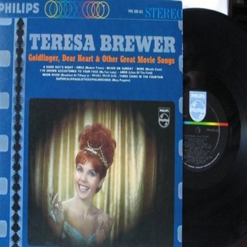 Brewer, Teresa - Goldfinger, Dear Heart & Other Great Movie Songs: A Hard Day's Night, Smile, More, Moon River, Hi Lili Hi Lo, Supercalifragilisticexplialidocious (Vinyl STEREO LP record) - NM9/NM9 - LP Records