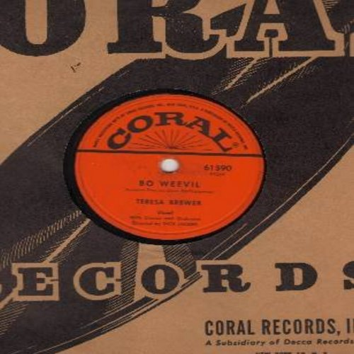 Brewer, Teresa - Bo Weevil/A Tear Fell (RARE 10 inch 78rpm record with Coral company sleeve) - EX8/ - 78 rpm