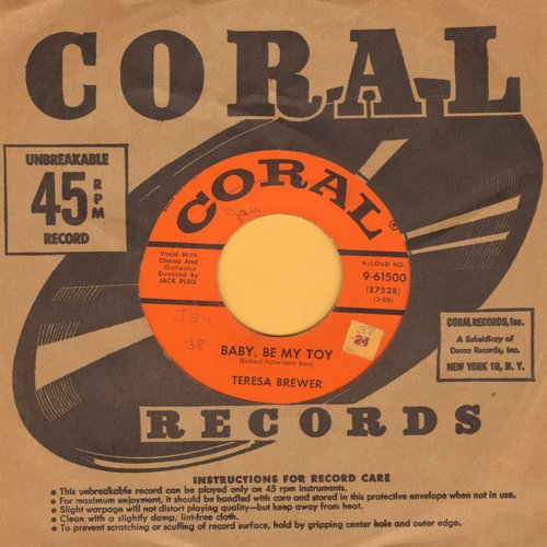Brewer, Teresa - Baby, Be My Toy/So Doggone Lonely - EX8/ - 45 rpm Records