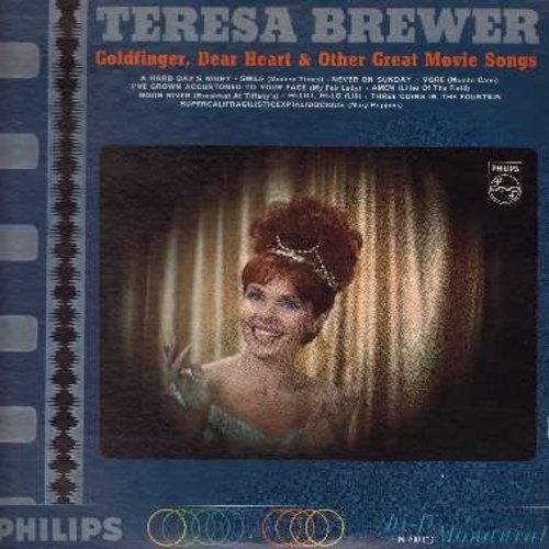 Brewer, Teresa - Goldfinger, Dear Heart & Other Great Movie Songs: (Mono) A Hard Day's Night, Smile, Never On Sunday, More, Moon River, Hi Lili Hi Lo, Supercalifragilisticexplialidocious (Vinyl MONO LP record) - NM9/NM9 - LP Records