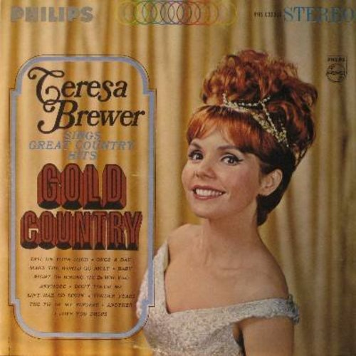 Brewer, Teresa - Gold Country: Right Or Wrong, Make The World Go Away, The Tip Of My Fingers, I Love You Drops (vinyl STEREO LP record) - NM9/NM9 - LP Records