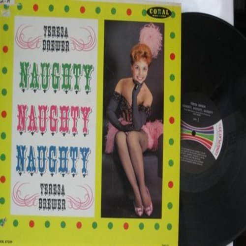 Brewer, Teresa - Naughty, Naughty, Naughty: Ma (He's Making Eyes At Me), By The Light Of The Silvery Moon, Naughty 90s, Honeymoon, Be My Little Baby Bumble Bee (Vinyl MONO LP record, burgundy label 1960s first issue) - M10/VG7 - LP Records