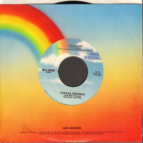 Brewer, Teresa - Ricochet/Till I Waltz Again With You (re-issue) - EX8/ - 45 rpm Records