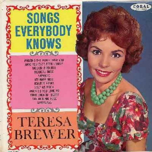 Brewer, Teresa - Songs Everybody Knows: My Happiness, Jambalaya, Your Cheatin' Heart (viny MONO LP record, burgundy label first issue) - EX8/NM9 - LP Records