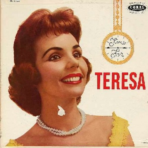 Brewer, Teresa - Time For Teresa: Texas Millionaire, You Send Me, Dancin' With Someone, Roll Them Roly Poly Eyes, Kiss Me (Vinyl MONO LP record, maroon label first issue) - VG7/VG7 - LP Records
