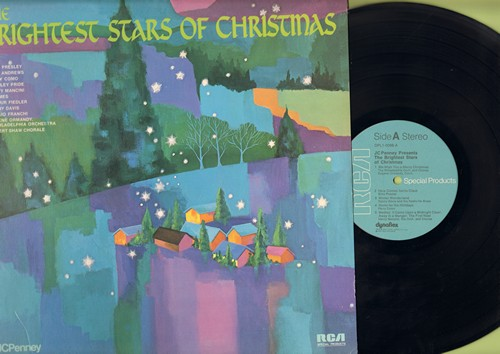 Philadelphia Orchestra & Chorus, Elvis Presley, Perry Como, others - Brightest Stars Of Christmas: We Wish You A Merry Christmas, Here Comes Santa Claus, Home For The Holidays, Jingle Bells (Vinyl STEREO LP record) - M10/NM9 - LP Records