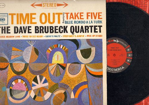 Brubeck, Dave Quartet - Time Out: Take Five, Blue Rondo A La Turk, Everybody's Jumpin' (Vinyl STEREO LP record) - VG7/EX8 - LP Records