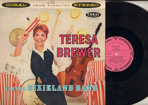 Brewer, Teresa - Teresa Brewer & The Dixieland Band: Basin Street Blues, Georgia On My Mind, Mississippi Mud, Bill Bailey Won't You Please Come Home, When It's Sleepytime Down South (Vinyl STEREO LP record, DJ advance pressing) - NM9/VG7 - LP Records