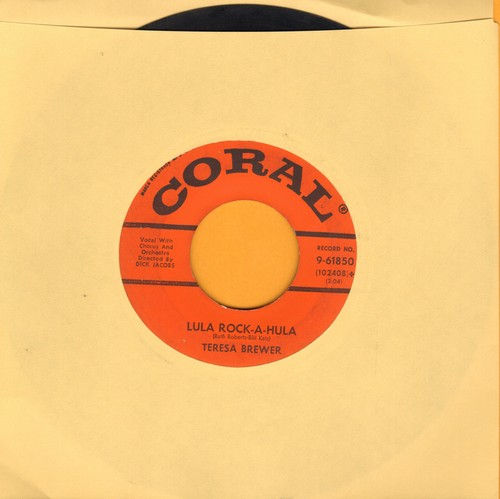Brewer, Teresa - Lula Rock-A-Hula/Teardrops In My Heart - VG7/ - 45 rpm Records