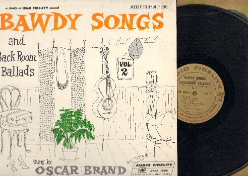Brand, Oscar - Bawdy Songs And Back Room Ballads - Sung By Oscar Brand (vinyl MONO LP record) - EX8/EX8 - LP Records