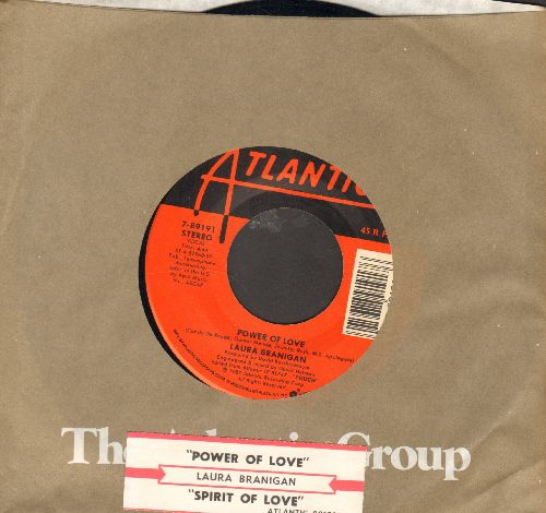 Branigan, Laura - Power Of Love/Spirit Of Love (with Atlantic company sleeve and juke box label) - NM9/ - 45 rpm Records