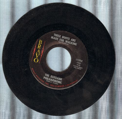 Burbank Philharmonic - These Boots Are Made For Walkin'/The Happy Whistler - NM9/ - 45 rpm Records