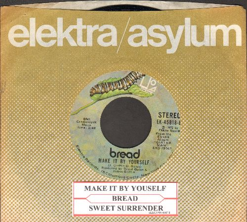 Bread - Sweet Surrender/Make It By Myself (with Elektra company sleeve and juke box label) - NM9/ - 45 rpm Records