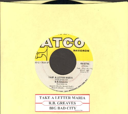 Greaves, R.B. - Take A Letter Maria (Definitive VEGAS SOUND!)/Big Bad City (NICE condition with juke box label) - NM9/ - 45 rpm Records