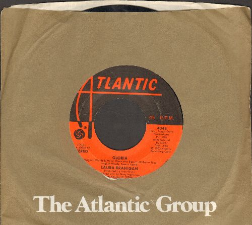 Branigan, Laura - Gloria/Living A Lie (with Atlantic ccompany sleeve) - EX8/ - 45 rpm Records
