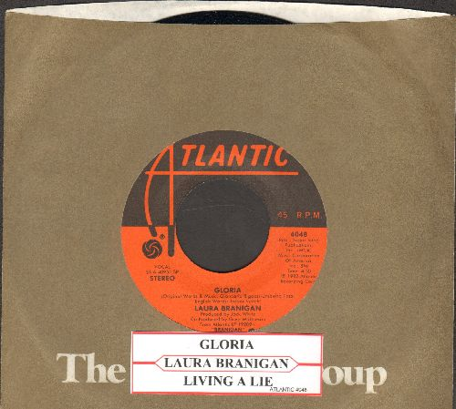 Branigan, Laura - Gloria (St. Louis Blues NHL)/Living A Lie (with Atlantic company sleeve and juke box label) - EX8/ - 45 rpm Records