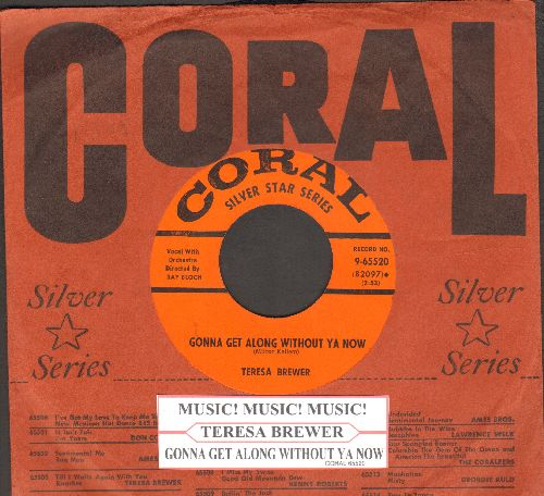 Brewer, Teresa - Gonna Get Along Without Ya Now/Music! Music! Music! (early double-hit re-issue with Coral company sleeve and juke box label) - NM9/ - 45 rpm Records