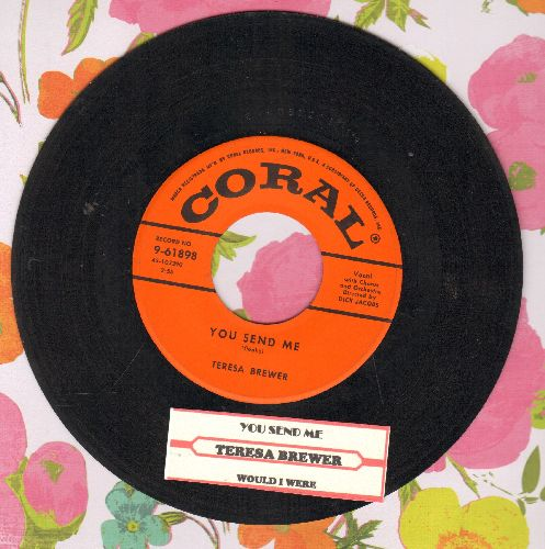 Brewer, Teresa - You Send Me/Would I Were (with juke box label) - EX8/ - 45 rpm Records
