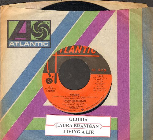 Branigan, Laura - Gloria (VICTORY SONG for St. Louis Blues, 2019 Stanley Cup CHAMPIONS!)/Living A Lie (with juke box label and Atlantic company) - NM9/ - 45 rpm Records