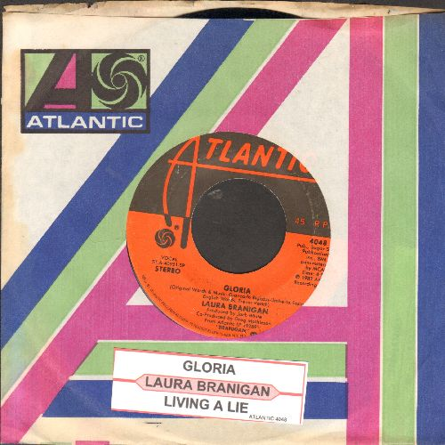 Branigan, Laura - Gloria (CONGRATULATIONS to  St. Louis Blues, 2019 Stanley Cup CHAMPIONS!)/Living A Lie (with juke box label and Atlantic company sleeve) - VG7/ - 45 rpm Records