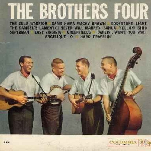 Brothers Four - The Brothers Four: Greenfields, Angelique-O, Sama Kama Wacky Brown, Yellow Bird, East Virginia (Vinyl LP record) - EX8/EX8 - LP Records