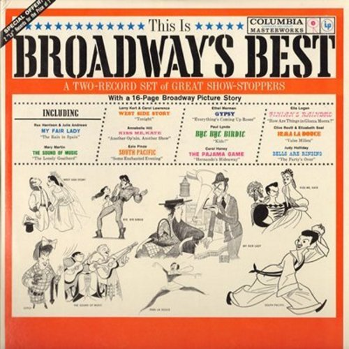 Broadway's Best - This Is Broadway's Best - A 2-record set of Great Show-Stoppers, with 16-page Broadway Pictue Story (2 vinyl LP record set, gate-fold cover, COLLECTOR'S ITEM!) - M10/NM9 - LP Records