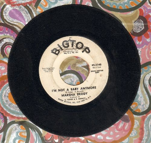Brody, Marsha - I'm Not A Baby Anymore/Stranger By My Side (wol) - VG6/ - 45 rpm Records