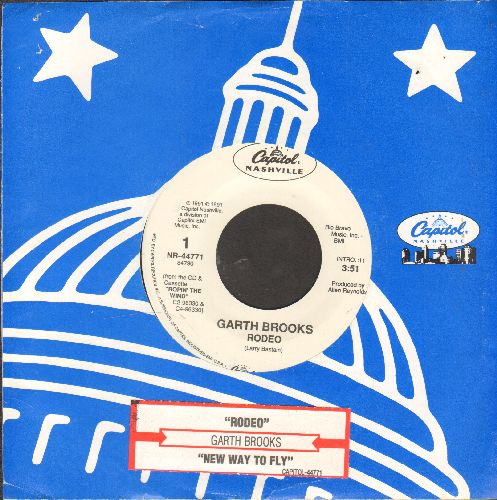 Brooks, Garth - Rodeo/New Way To Fly (with juke box label and Capitol company sleeve) - EX8/ - 45 rpm Records
