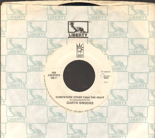 Brooks, Garth - Somewhere Other Than The Night/Mr. Right (Special Juke Box Pressing with Liberty company sleeve) - EX8/ - 45 rpm Records