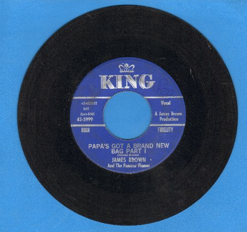 Brown, James - Papa's Got A Brand New Bag Parts 1 + 2) - EX8/ - 45 rpm Records