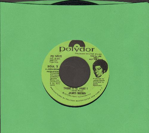 Brown, James - There It Is Parts 1 (double-A-sided DJ advance pressing) - VG7/ - 45 rpm Records
