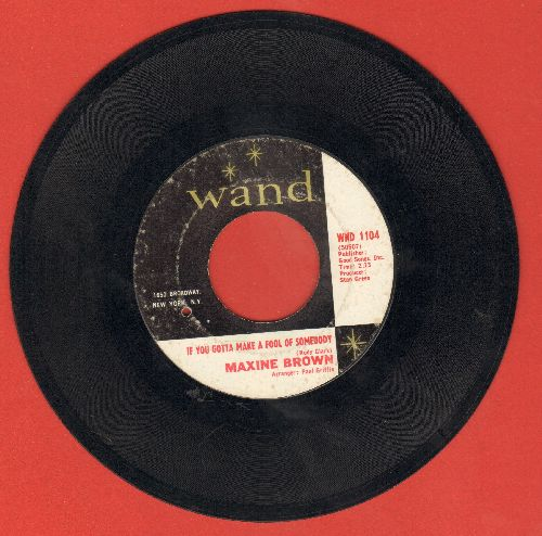 Brown, Maxine - If You Gotta Make A Fool Of Somebody/You're In Love (bb) - VG7/ - 45 rpm Records