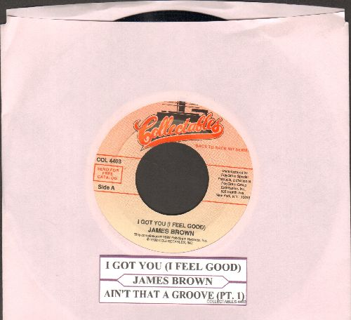 Brown, James - I Got You (I Feel Good)/Ain't That A Groov (Pt. 1) (double-hit re-issue with juke box label) - NM9/ - 45 rpm Records