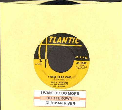 Brown, Ruth - I Want To Do More/Old Man River (yealow label first pressing with juke box label) - VG7/ - 45 rpm Records