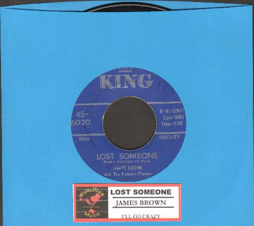 Brown, James & The Famous Flames - Lost Someone/I'll Go Crazy (with juke box label) - VG7/ - 45 rpm Records