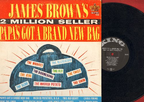 Brown, James - Papa's Got A Brand New Bag: Doin' The Limbo, Have Mercy Baby, Mashed Potatoes U.S.A., Love Don't Love Nobody (Vinyl MONO LP record) - EX8/VG7 - LP Records