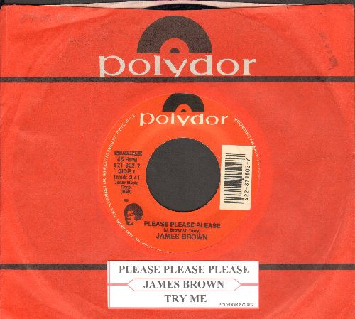 Brown, James - Please Please Please/Try Me (double-hit re-issue with Polydor company sleeve and juke box label) - NM9/ - 45 rpm Records